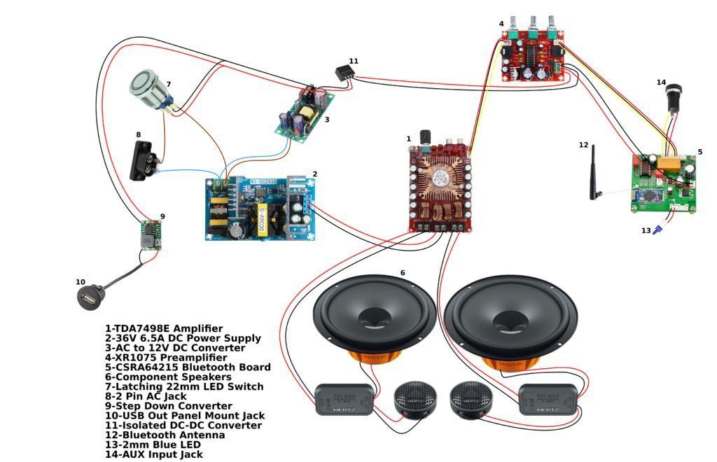 Diy Bluetooth Boombox Speaker How To Diy Bluetooth Speaker Bluetooth Speakers Diy Diy Speakers