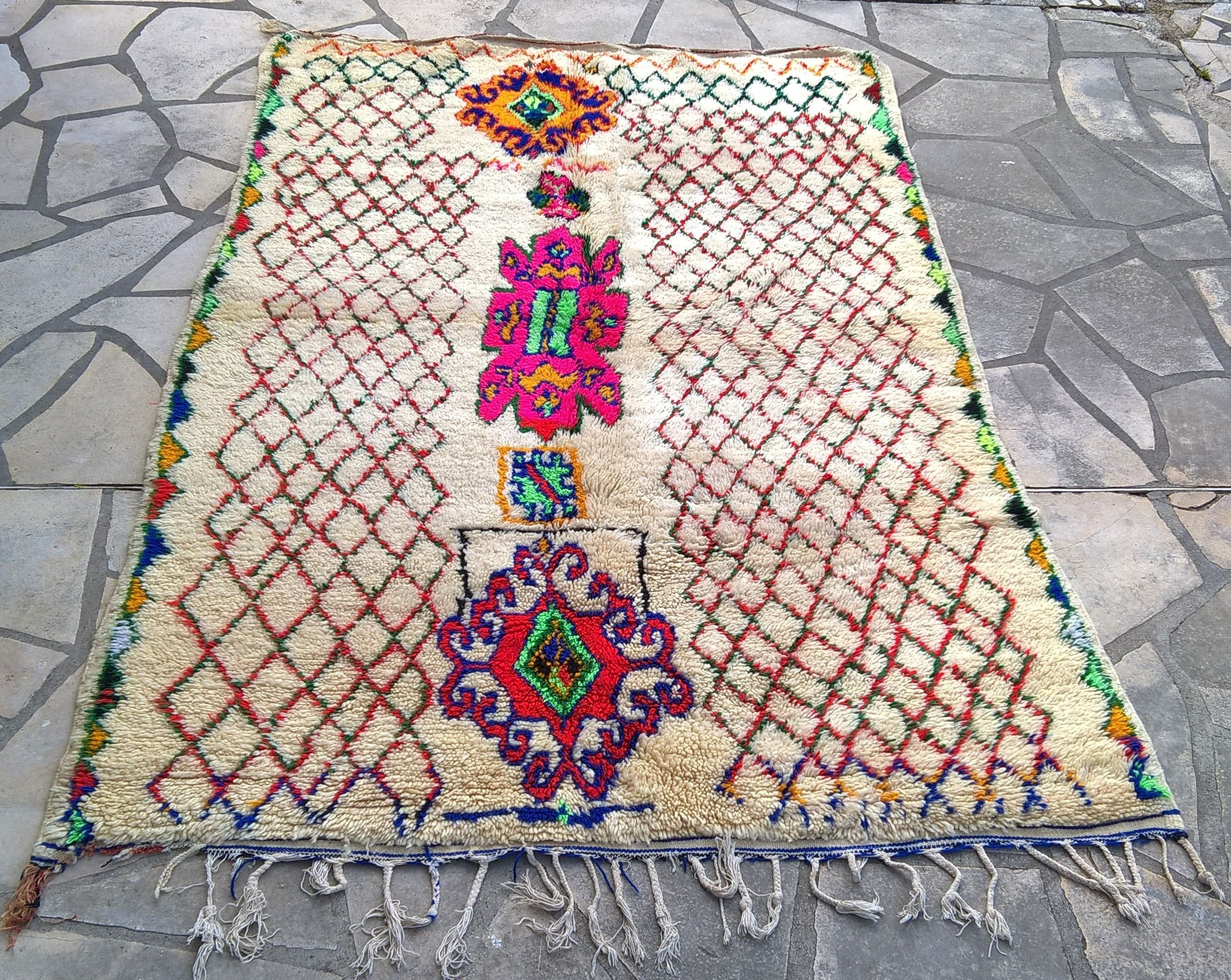 Tapis Marocain Azilal 231 X 143 Cm 91 X 56 Moroccan Rug Azilal