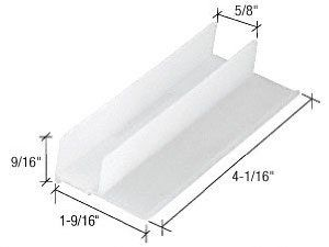 Crl 1 9 16 Wide Sliding Shower Door Bottom Guide By Crl 4 17 Fits 7 16 11 1 Mm Thick Doors Crl 1 9 16 Sliding Shower Door Bath Renovation Home Hardware