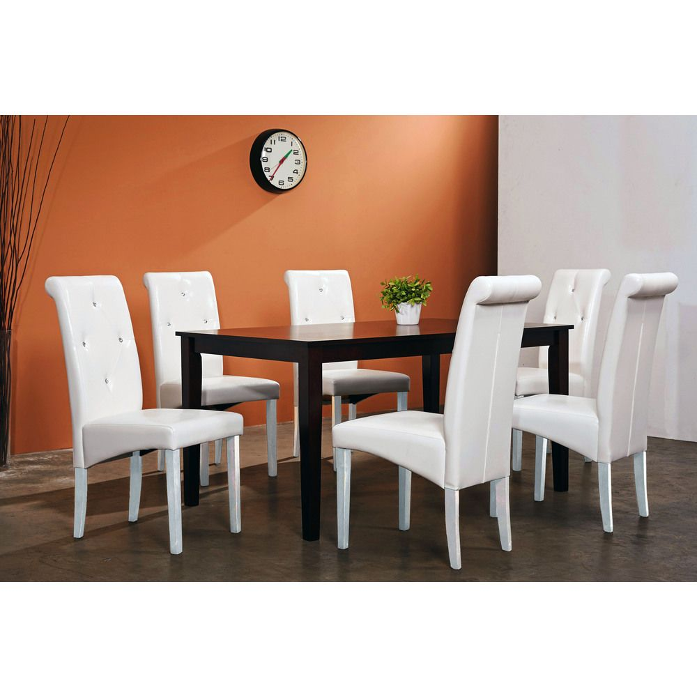 Warehouse Of Tiffany 7 Piece White Dining Room Set   Overstock™ Shopping    Big