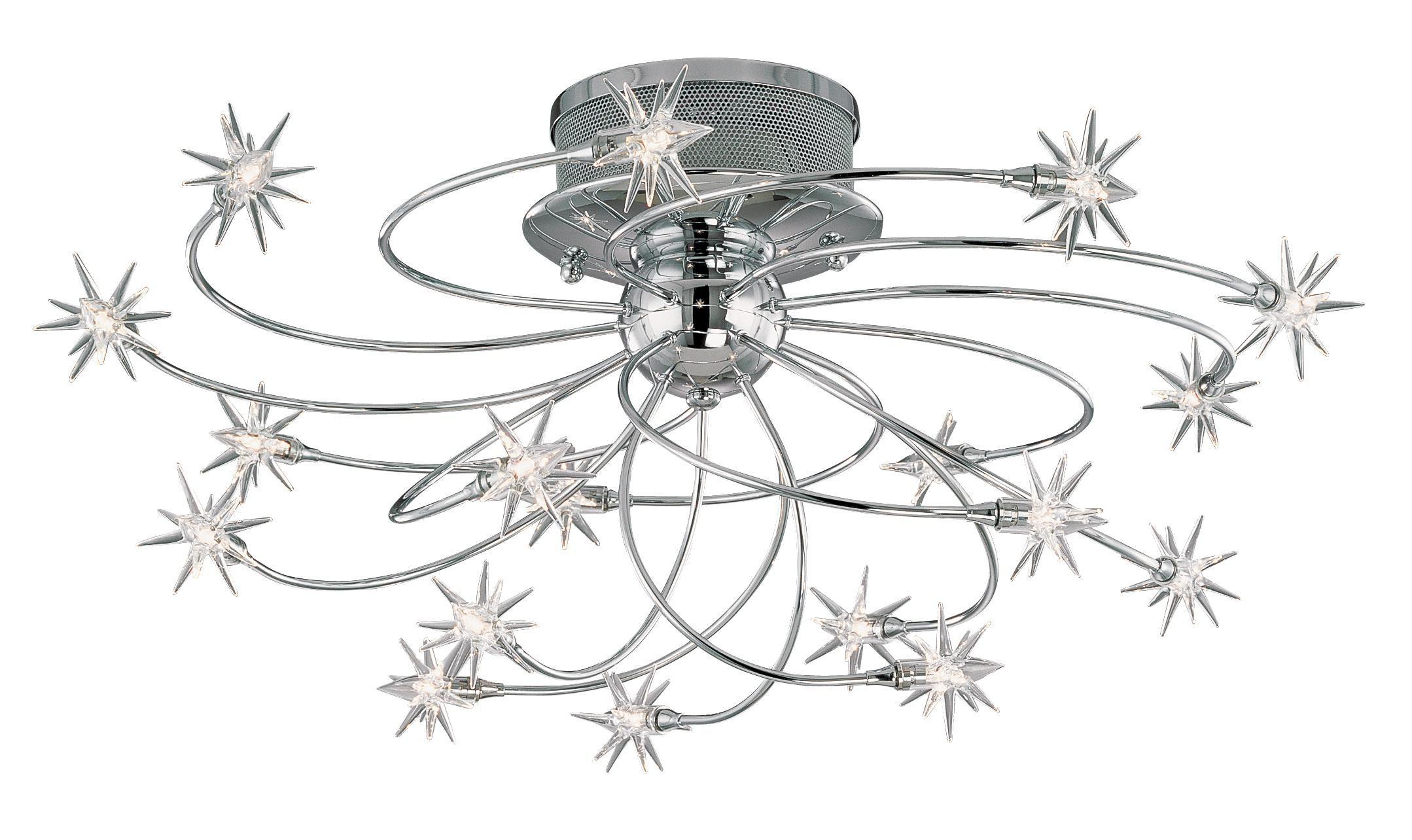 Possini Euro Design Galaxy Chrome 28 1 4 Wide Ceiling