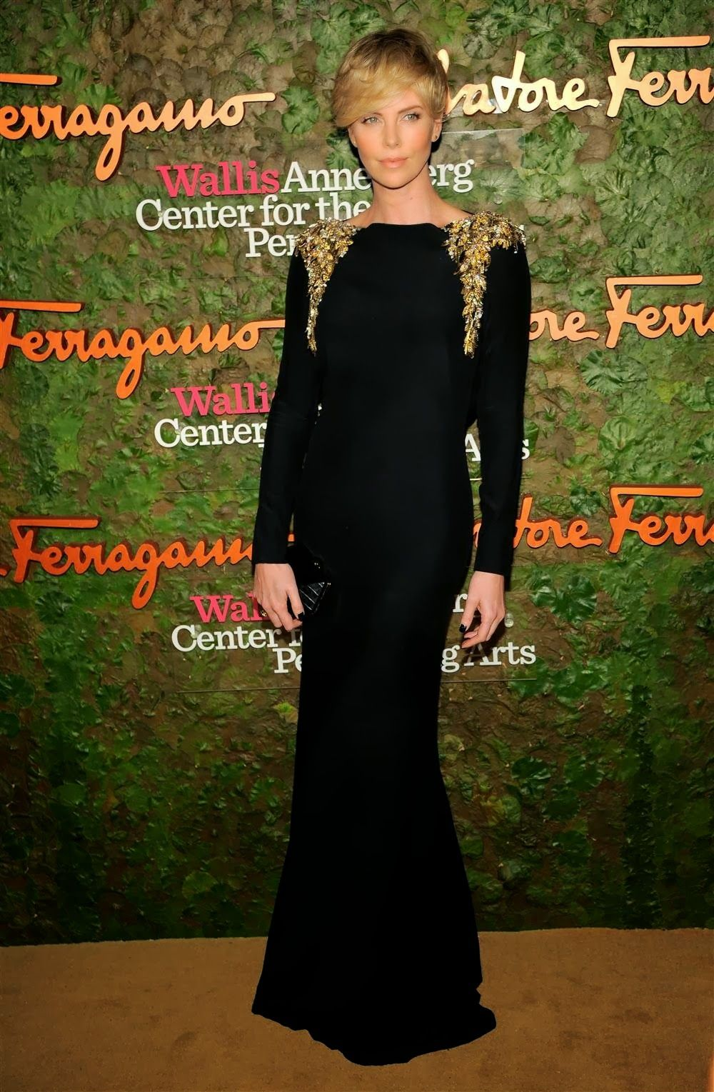 Charlize Theron in Alexander McQueen at the Wallis Annenberg Center for the Performing Arts Inaugural Gala (October 17, 2013).