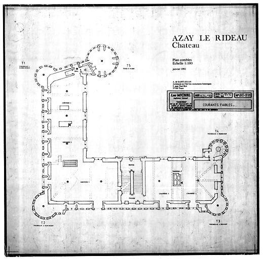 Chateau D Azay Le Rideau Plan Of Second Floor How To Plan Castle Plans Architecture Plan