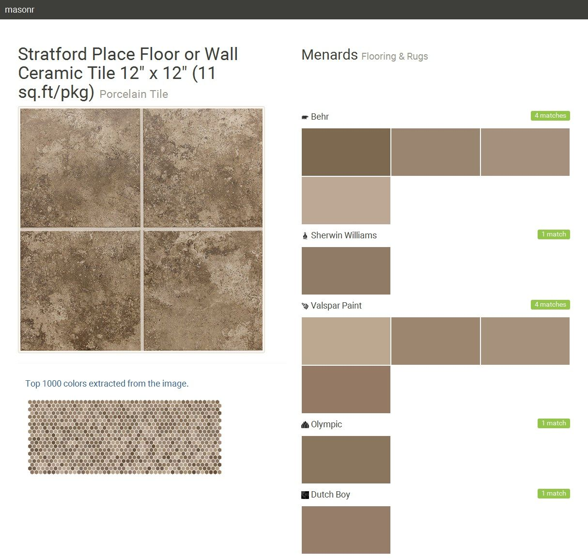 Stratford place floor or wall ceramic tile 12 x 12 11 sqftpkg stratford place floor or wall ceramic tile 12 x 12 11 sq dailygadgetfo Images
