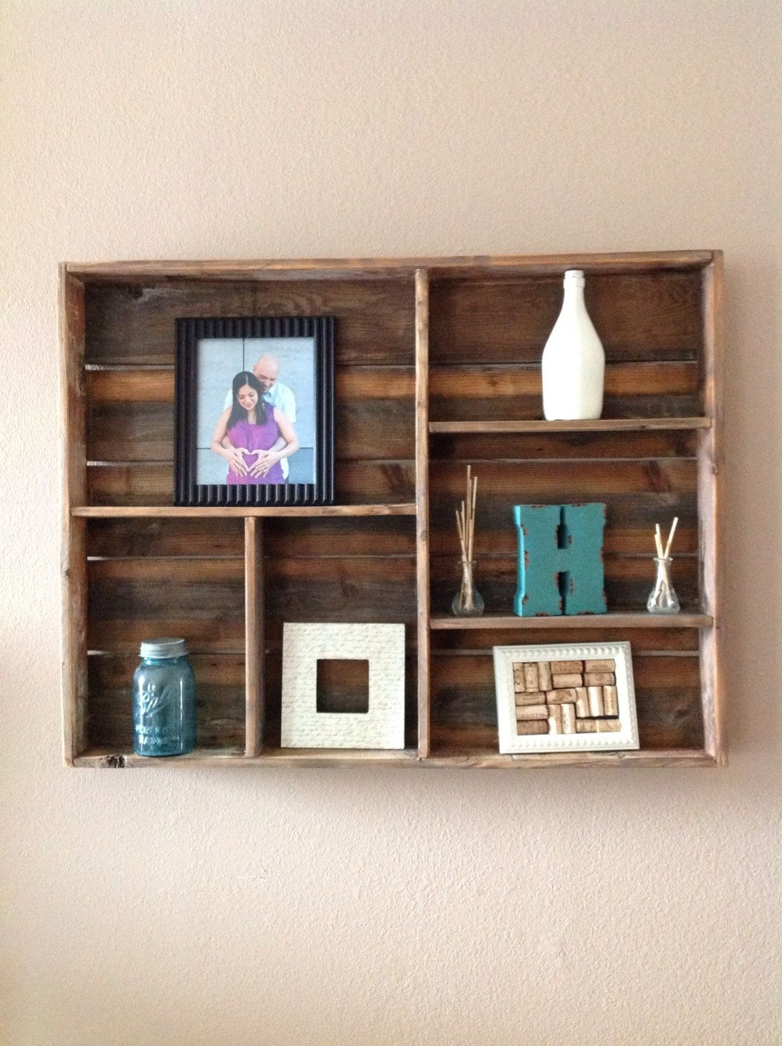Reclaimed wood wall shelf large by DelHutsonDesigns on Etsy - Reclaimed Wood Wall Shelf (large) Shelving, Wall Shelving And