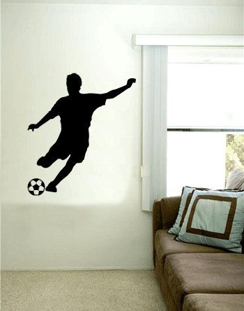 Soccer Player Vinyl Wall Art Decal By 7decals On Etsy 24 99