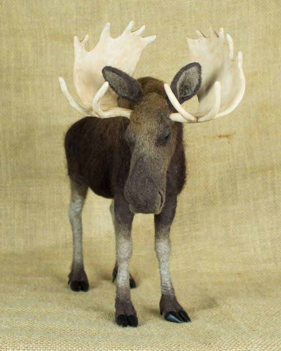 Made to Order Needle Felted Moose: Custom needle felted animal | Etsy #needlefeltedanimals