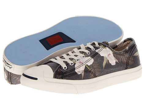 5f3715f68551 Converse Jack Purcell® LTT Ox Vaporous Gray Multi Floral - Zappos.com Free  Shipping BOTH Ways
