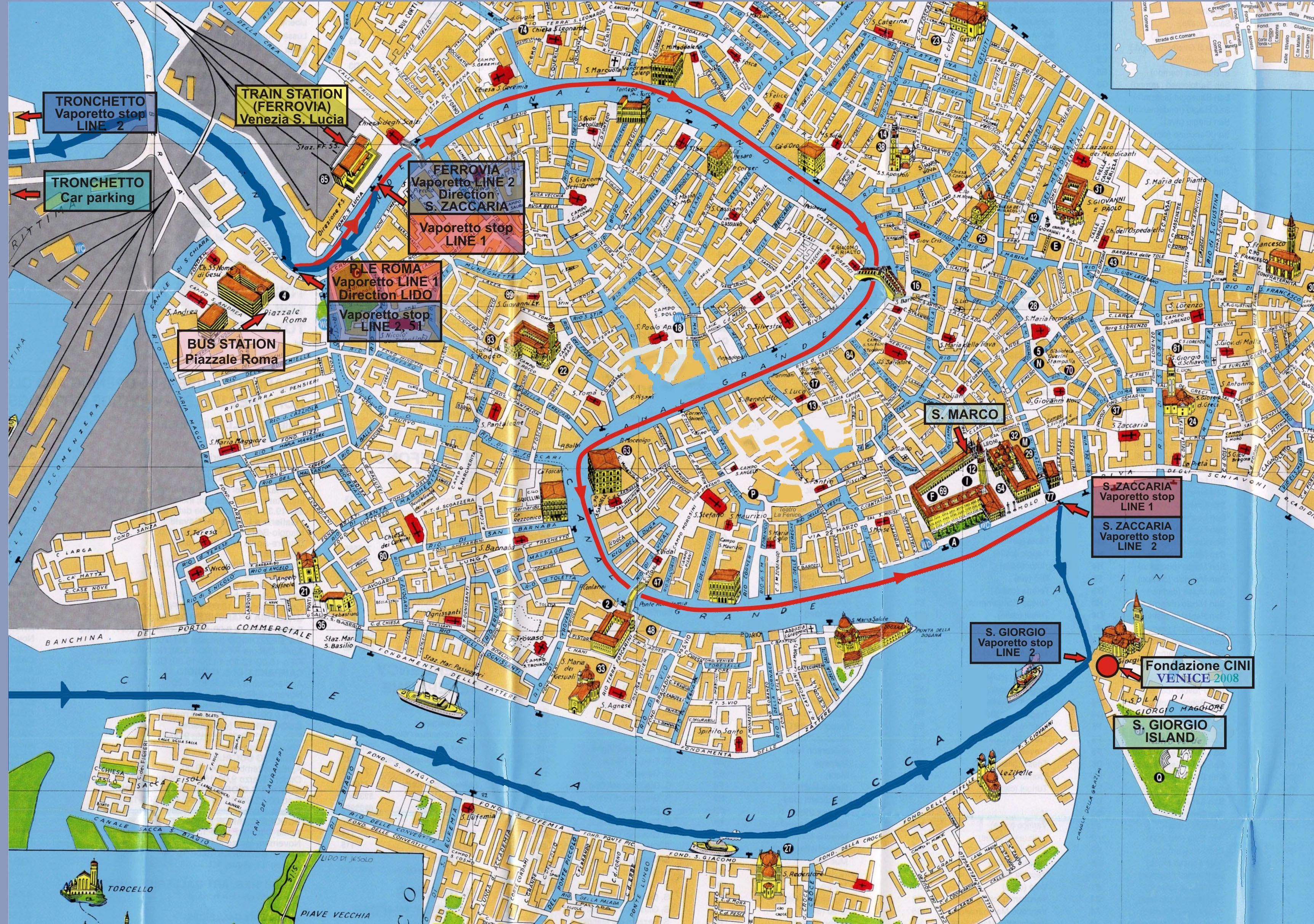 Venice Tourist Map - Venice • mappery | Venice / Padova | Pinterest ...