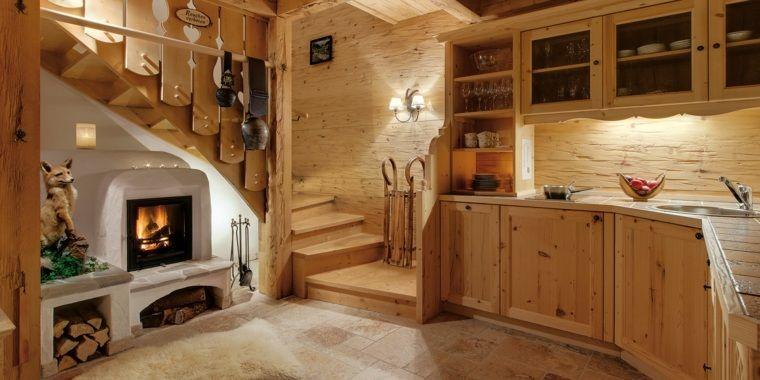 Décoration Cuisine Chalet Montagne | Décoration Intérieur Chalet Montagne :  50 Idées Inspirantes