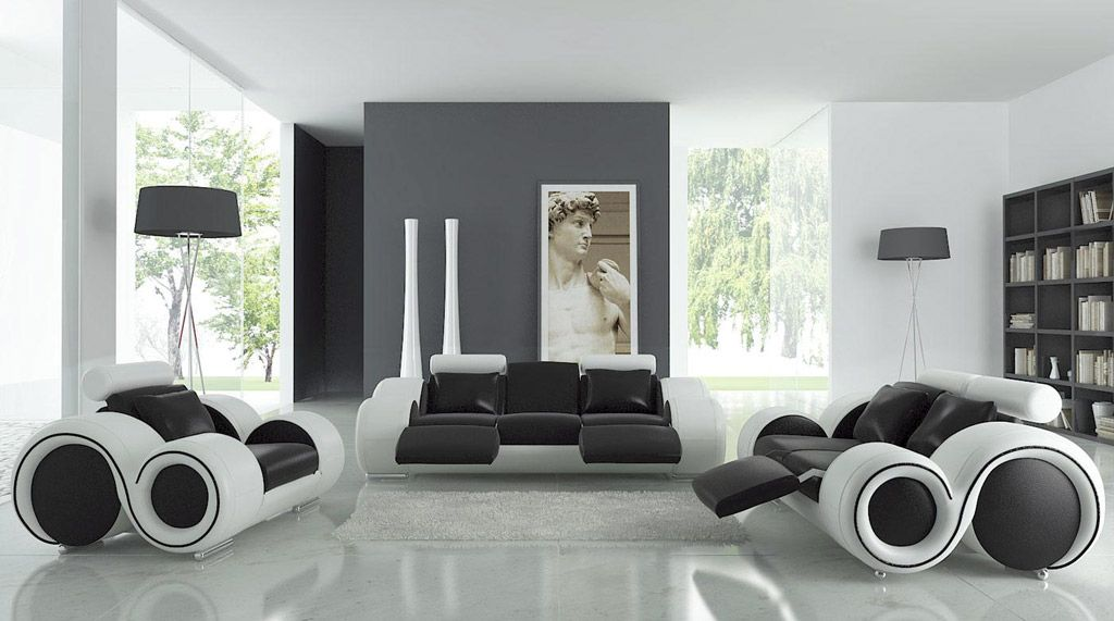 Modern Living Room Black And White modern living rooms and technology for it | modern living rooms