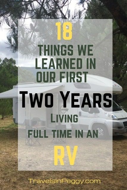 18 Things we Learned in Two Years of Living Full Time in our Motorhome - Travels in Peggy Sue