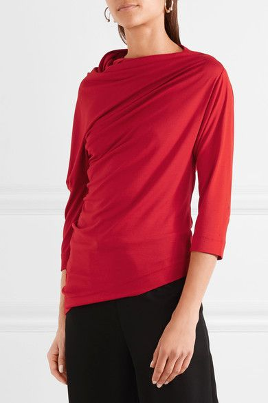 Liberate Asymmetric Draped Stretch-jersey Top - Red Vivienne Westwood Very Cheap For Sale Cheapest Free Shipping Best Outlet Comfortable Manchester Great Sale Cheap Price PB3rscMS