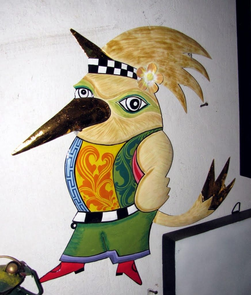 Wall decor: a cartoon version of the Jalak, also known as a Bali ...