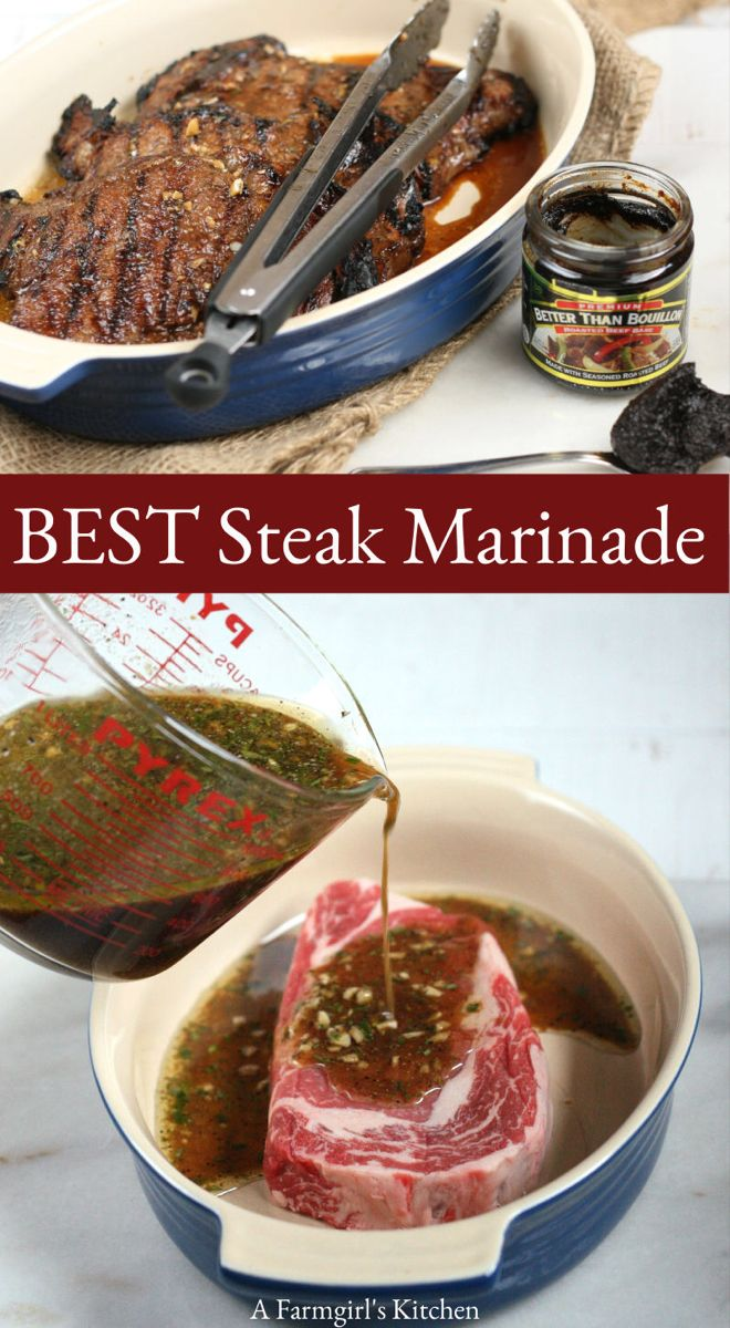Best Steak Marinade Recipe | A Farmgirl's Kitchen #marinadeforbeef