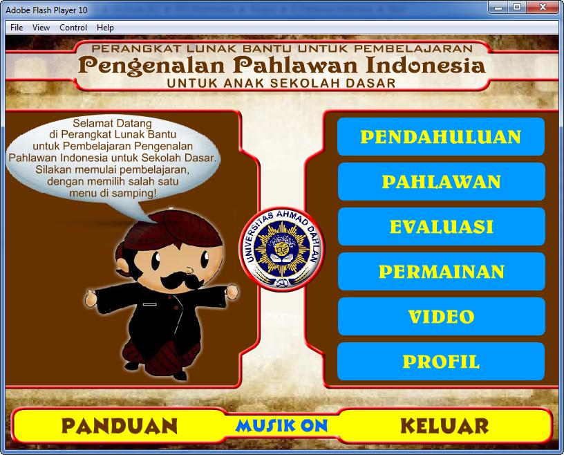 Contoh Aplikasi Multimedia Interaktif Pengenalan Pahlawan Indonesia Belajar Multimedia Game Edukasi