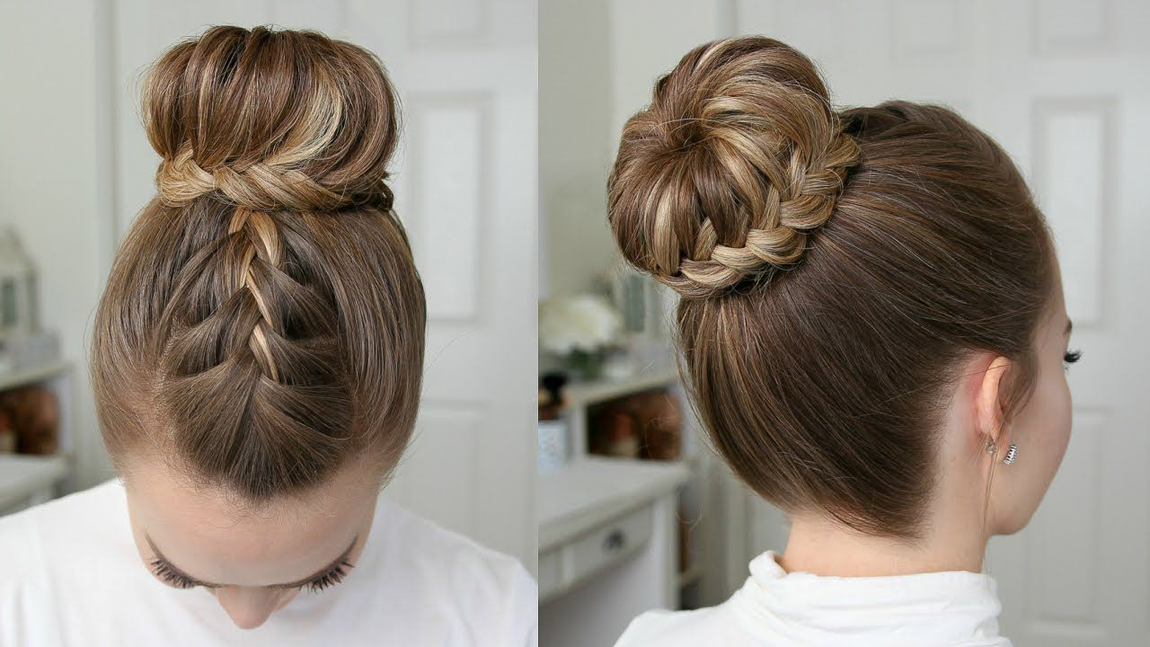 French Lace Fishtail High Bun Missy Sue Youtube Braided Bun Hairstyles Bun Hairstyles French Braid Hairstyles