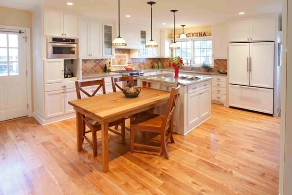 30 Kitchen Islands With Tables A Simple But Very Clever Combo Small Kitchen Tables Kitchen Island Table Kitchen Island And Table Combo