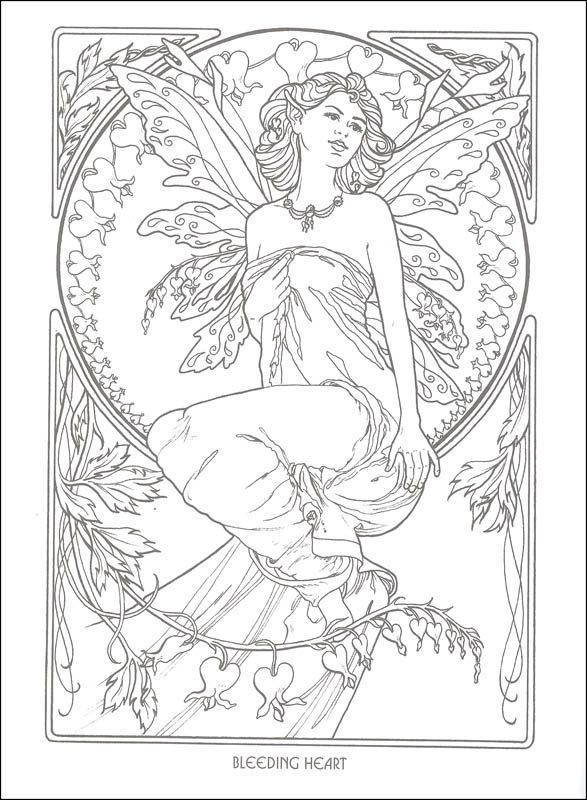 Nice Fairy Coloring Books 26 Floral Fairies Coloring