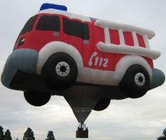 hot air balloon - fire truck