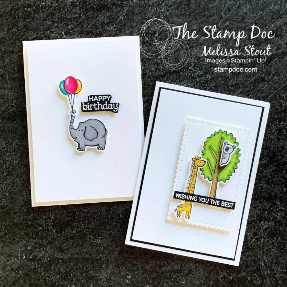 Clean & Simple Zoo Globe Cards
