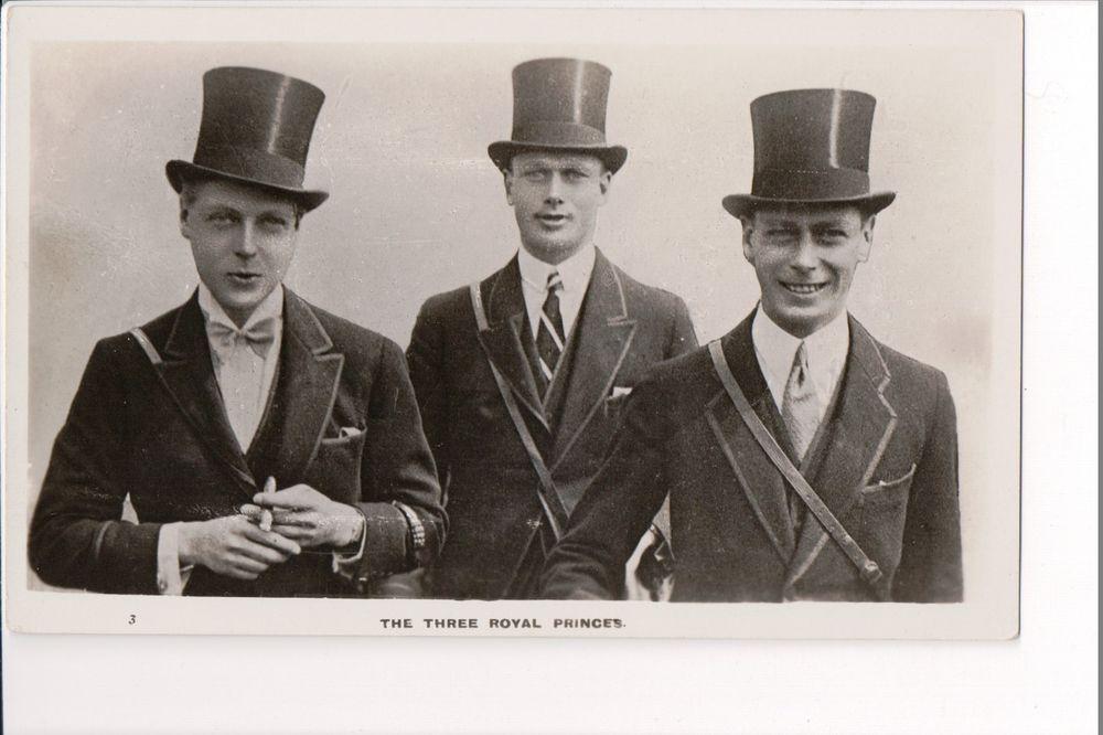 Vintage Postcard  Dukes of York & Kent Edward Prince of Wales