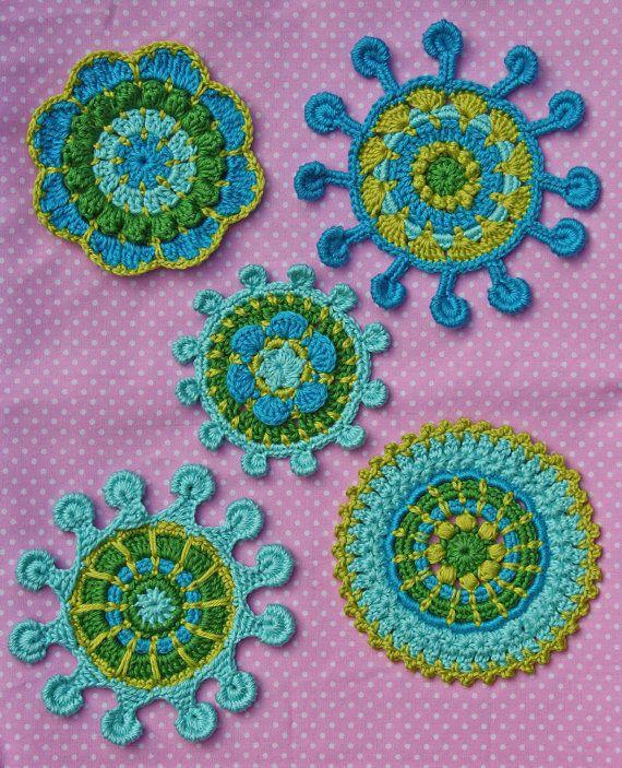 Spoke Picot Motifs Crochet Pattern Pdf In English Pdf