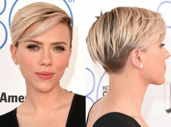 Scarlett Johansson Short Shaved Hairstylesedgy