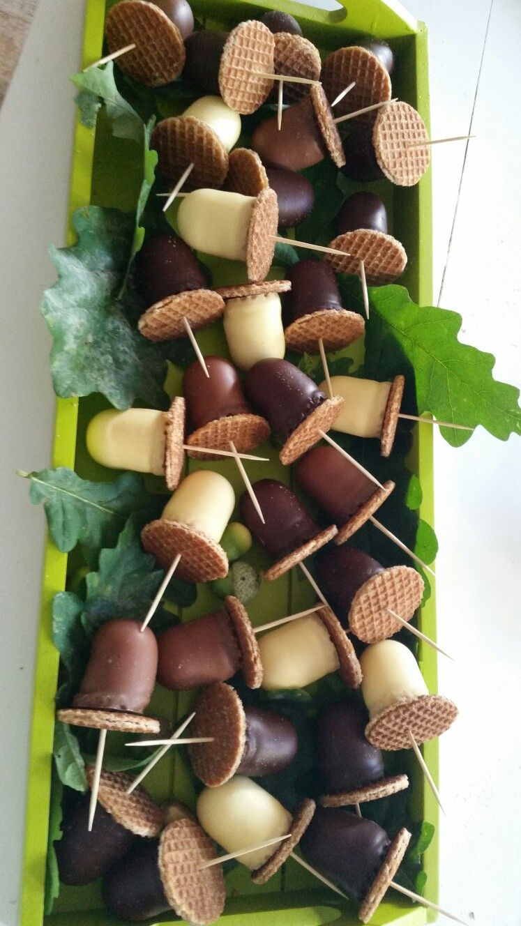 Verrassend Automn treat: mini chocokisses + mini stroopwafels (met OO-23