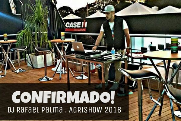 Dj Rafael Palma confirma presença na Agrishow 2016