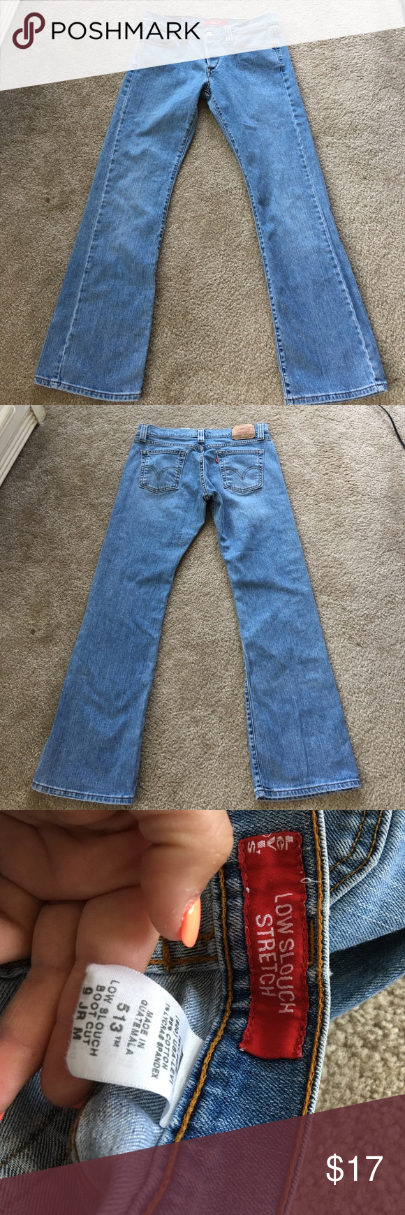 bf35133075b Levi's 513 Low Slouch Stretch Bootcut Jeans Button fly. Junior 9 Medium  Length Levi's Jeans Boyfriend