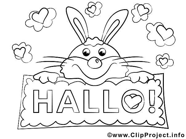 Hase Hallo Ausmalbilder Fur Kinder Kostenlos Ausdrucken Malvorlagen Ausmalbilder Basteln Fruhling Kinder