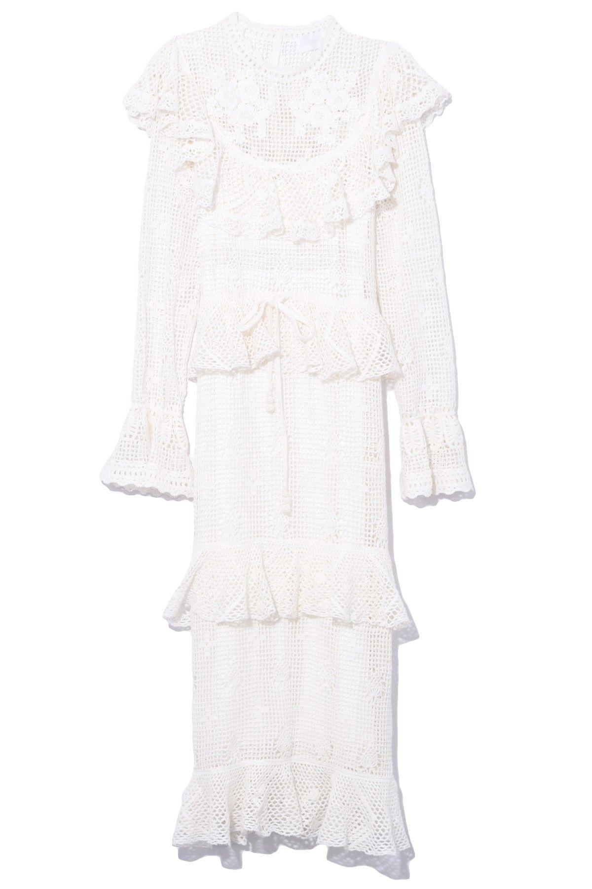 52e61e1a860 Zimmermann Castile Crochet Motif Dress in Ivory
