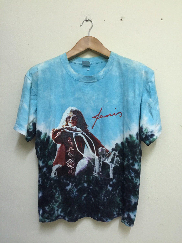 425644d3f5e7 Janis Joplin Tie Dye Allover Print Shirt by chaosrareclothing86 on Etsy  https   www