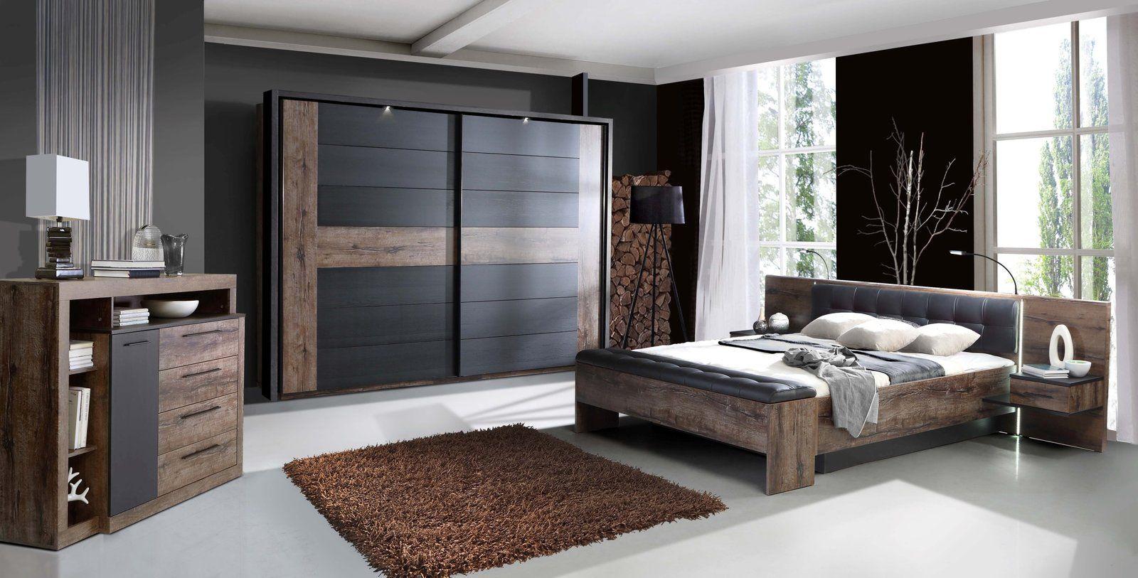 Bettbank BELLEVUE - Schlammeiche-Schwarzeiche - 185 cm | Home Decor ...