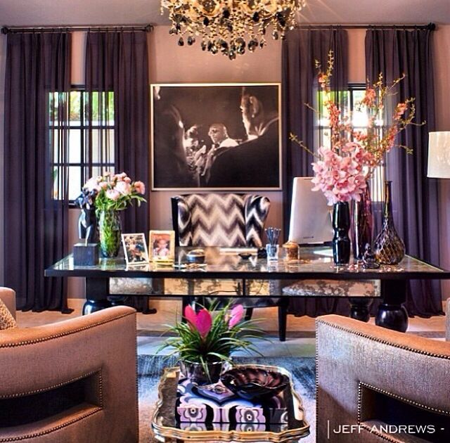 Khloe Kardashian's office | Home office decor, Home office ...