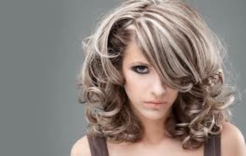 Hairstyle Of Gray Hair With Highlights To Accent - http://www ...