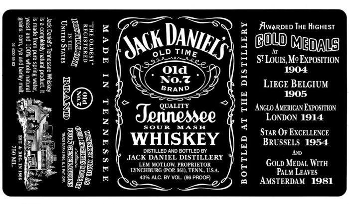 Jack Daniel S Fonts Jack Daniels Label Jack Daniels Label Templates