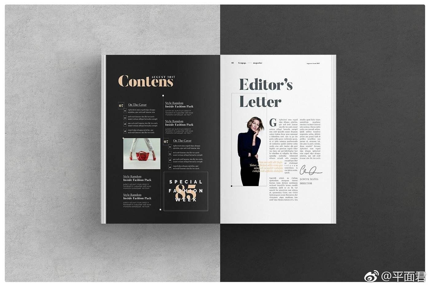 Pin de ricaaaaa en magazine layout | Pinterest