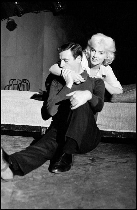 "24hoursinthelifeofawoman: "" Yves MONTAND and Marilyn MONROE. 1961. """