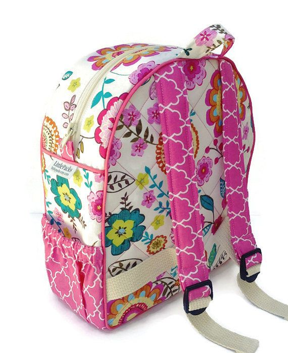 b5463903c0 Personalized Floral Toddler Backpack - Pink Flowers Backpack ...