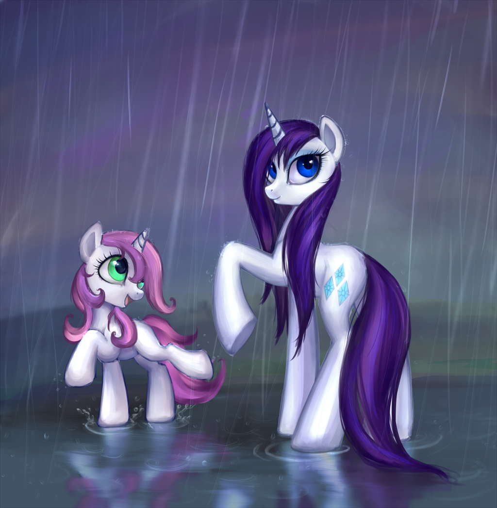 Walking In The Rain By Nyarmarr.deviantart.com On