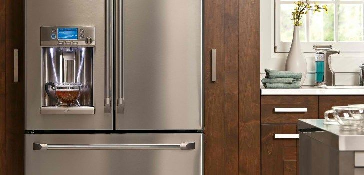 This #kitchen is gorgeous, with the #GE Café™ #CFE29TSDSS #refrigerator