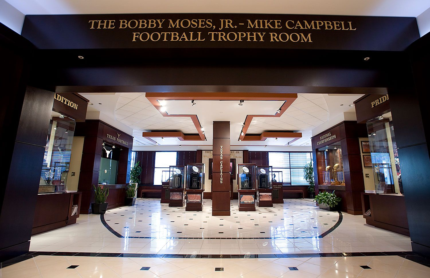 Bobby Moses Jr Mike Campbell Football Trophy Room Including Players Lounge