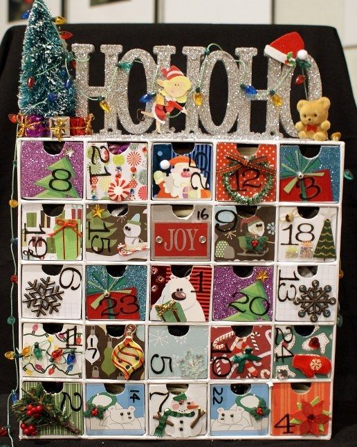 I make these advent calendars for family and friends for for Michaels arts and crafts virginia beach