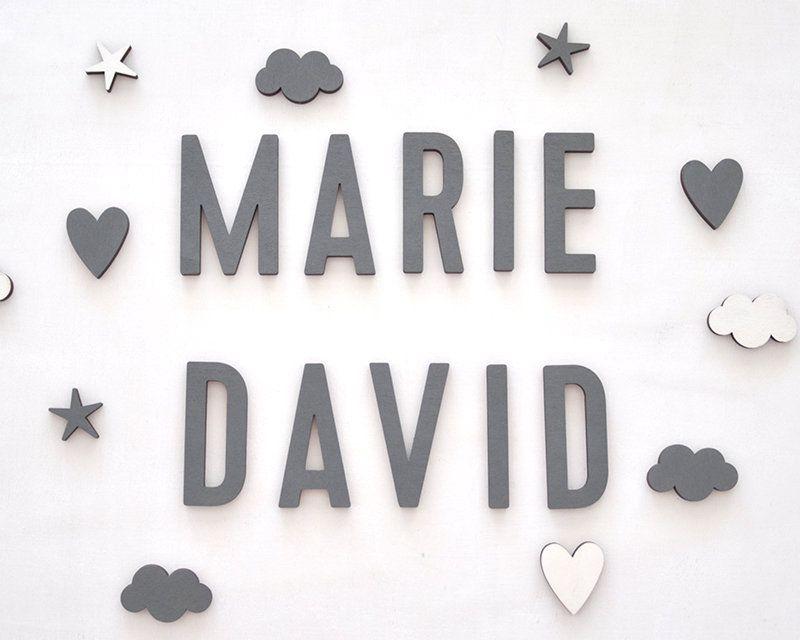 Buchstaben 5 oder 8 cm aus Holz für Kinderzimmer oder