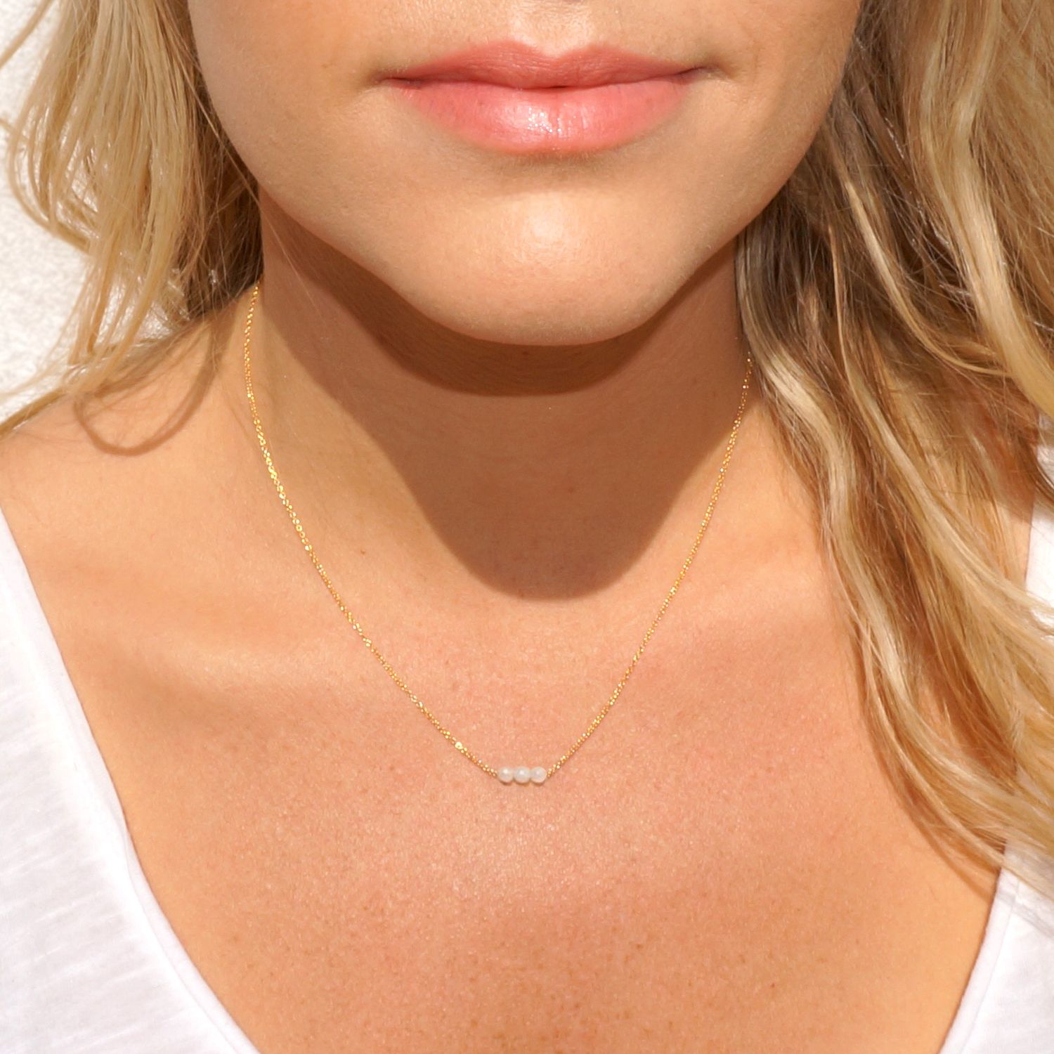 RENEW | moonstone | New Beginnings + Intuition + Calm | #jewelry #necklace #crystals #losangeles #california #madeinusa