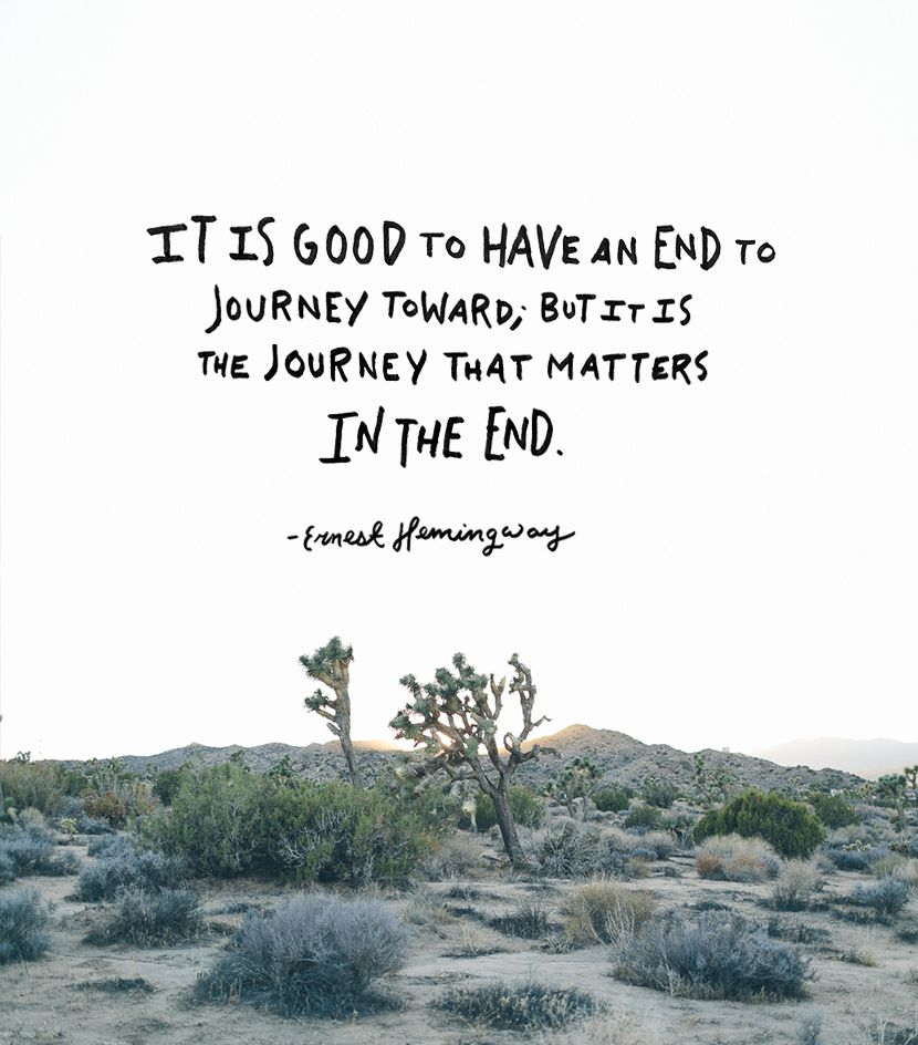 Image result for journey quotes ernest hemingway
