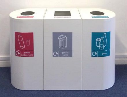 Office recycling bins home office design uk recycle for Household waste design