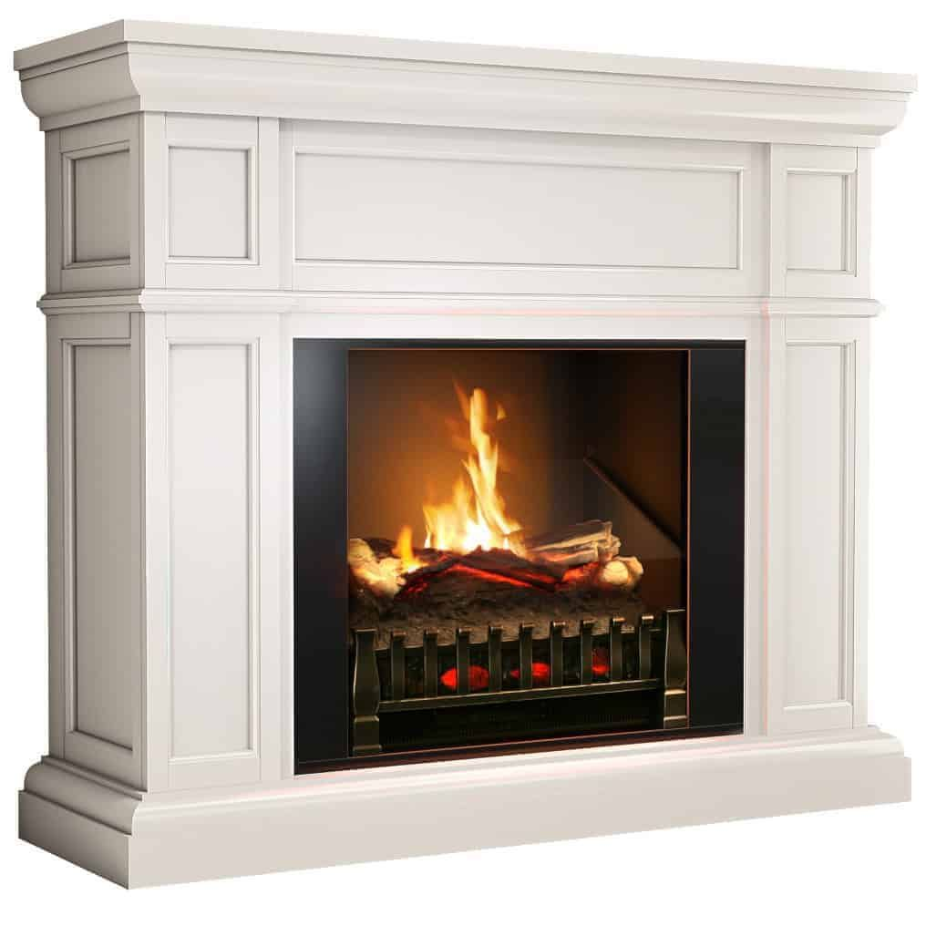 Artemis Modern White Electric Fireplace Mantel Insert With Sound And Heater White Electric Fireplace Electric Fireplace Best Electric Fireplace Electric fireplace heater with mantle